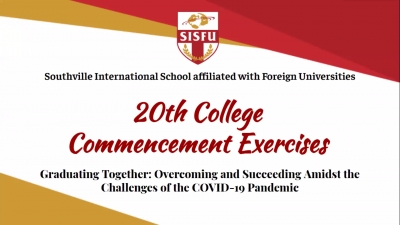 Unique Route to the Finish Line: SISFU Holds the First Ever Online Commencement Exercises