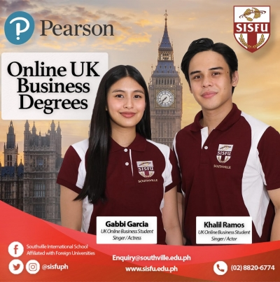 THE CO-STARS' JUMPSTART: Gabbi Garcia and Khalil Ramos are taking their UK Business Degrees Online with SISFU-SOUTHVILLE